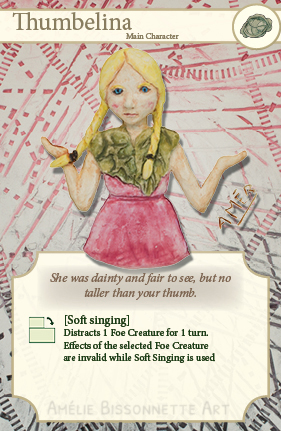 carte illustrant Thumbelina pour TCG Mindset